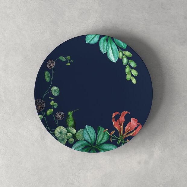 Avarua dessert/breakfast plate, 22 cm, blue/multicoloured, , large