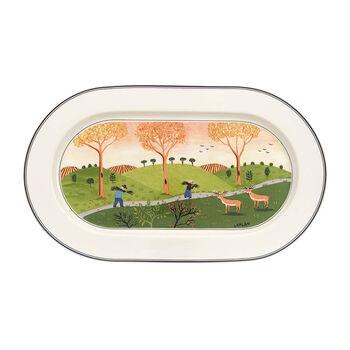 Design Naif oval plate 34 cm