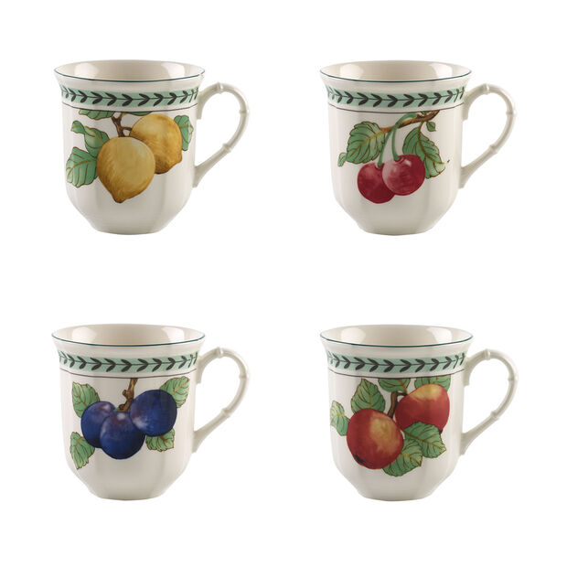 French Garden Modern Fruits jumbo mug 4-piece set, , large