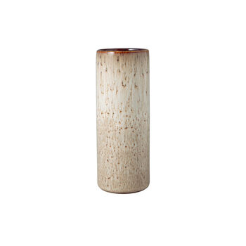 Lave Home cylinder vase, 7.5 x 7.5 x 20 cm, Beige