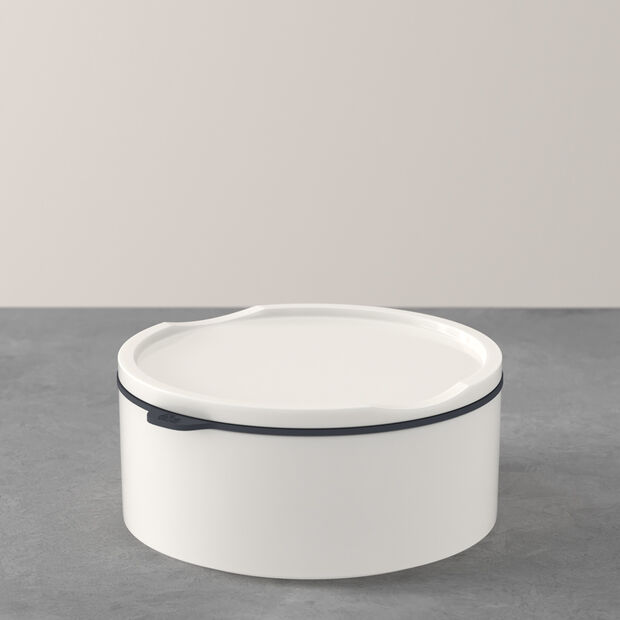 ToGo&ToStay lunch box, 13 x 6 cm, round, white, , large