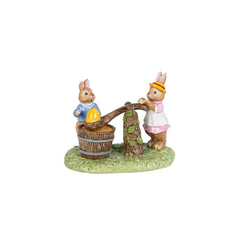 Bunny Tales figurine Egg Dyeing, multicoloured