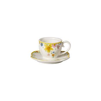 Spring Awakening tea light holder, cup, yellow/multicoloured