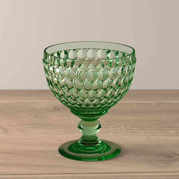 Boston Coloured champagne coupe/dessert bowl, green, 12.5 cm, , large