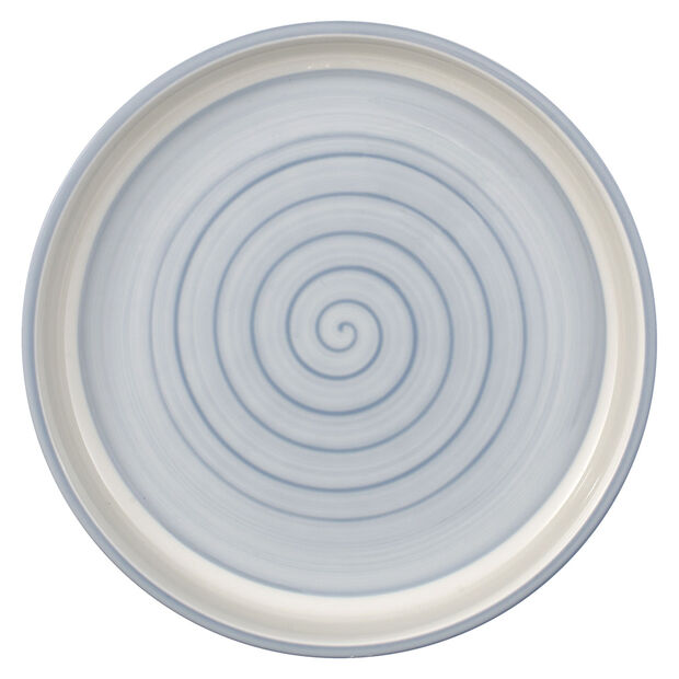 Clever Cooking Blue round serving plate 26 cm, , large