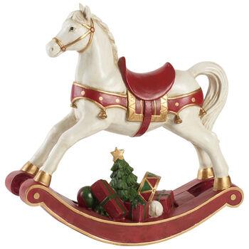 Winter Collage Accessoires Rocking horse XL 32,8x10,8x32,5cm
