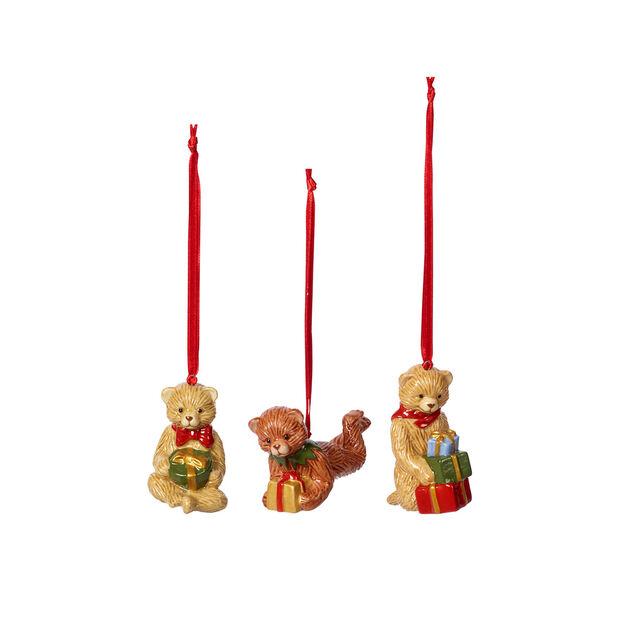 Nostalgic Ornaments ornament set teddy, multicoloured, 3 pieces, 9.5 cm, , large