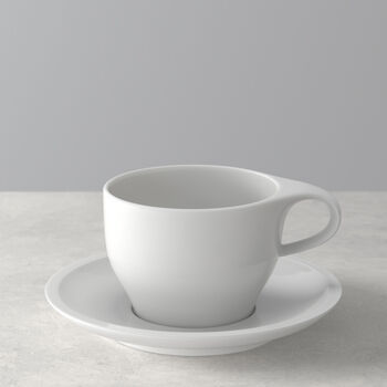Coffee Passion White coffee cup & saucer 2pcs