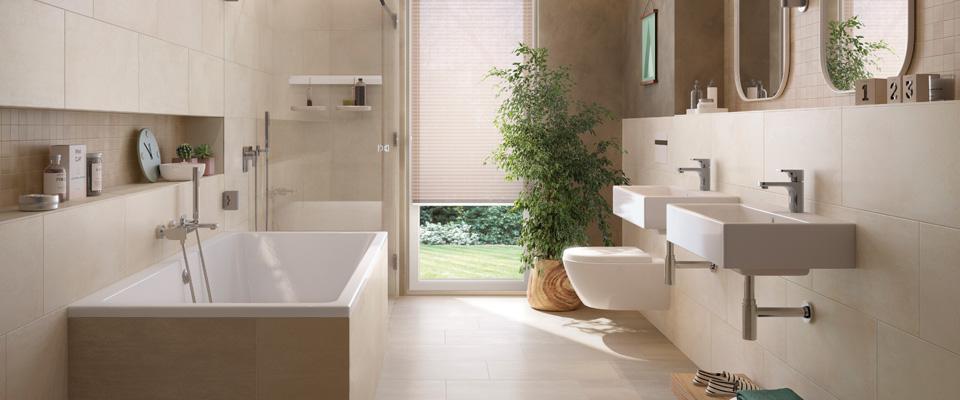 ... Vielseitig Attraktives Konzept Für Wohnräume, Küchen, Bäder Und  Treppenhäuser. Das Moderne Oberflächendesign Mit Dezent Strukturiertem  Charakter Vereint ...